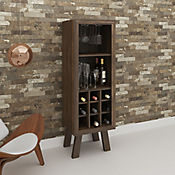 Mueble para Bar Barcelona 44.8x135x37.5cm Nogal