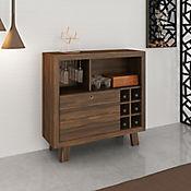 Mueble para Bar Madrid 90x78.5x31.5cm Nogal