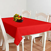 Mantel Cuadrado 4 Puestos Lino Rojo 1.45x1.45