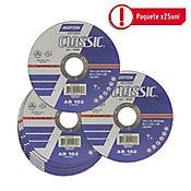 Disco Abrasivo Corte Metal 4-1/2 pulg X 1.6mm - Paq X 25