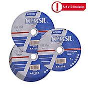 Disco Abrasivo Corte Metal 7 pulg X 1.6mm - Paq X 10