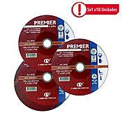 Disco Abrasivo Corte Acero 7X1/16 pulg Premier - Paq X 10