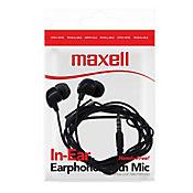 Audifono Maxell In Bax Boton Con Micrófono Negro