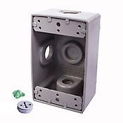 Caja Aluminio 5800 - Rectangular 3 Salidas de 3/4 Pulg X 20 Unds
