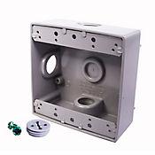 Caja Aluminio 2400 - Cuadrada 3 Salidas de 3/4 Pulg X 12 Unds