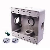 Caja Aluminio 2400 - Cuadrada 4 Salidas de 3/4 Pulg X 12 Unds