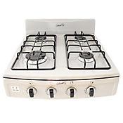 Estufa de Sobremesa 4 Puestos Aluminio Gas Propano Gris 4411