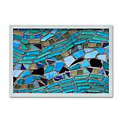 Bandeja Rectangular con Adhesivo Mate 30x40 cm Azul
