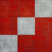 Tapete Modular Caja x 9 Tabletas 50x50 cm BG2 Rojo/Gris