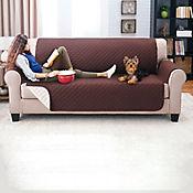 Protector De Sofá Para Mascotas Doble Faz Chocolate-Camel 3 Puestos