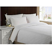 Duvet Sateen Stripe Karytex Doble + Funda Almohadón Blanco
