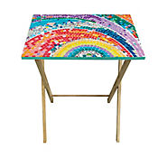 Mesa Plegable con Adhesivo 50x35x60cm Multicolor