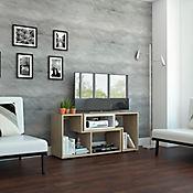 Rack Extensible Beijing para TV de 40 Pulgadas 54,5x120-160x35,3 Rovere/Blanco