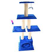 Gimnasio Torre de 4 Pisos 40x40x150cm Azul