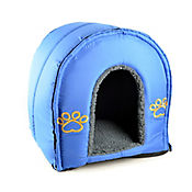 Casa para Gatos Desarmable Azul