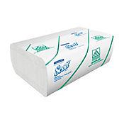 Toalla Airflex en Z Scott Blanco Hoja Sencilla 20 Paquetes x175