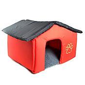 Casa Grande en Tela Confortable y Desarmable Color Rojo