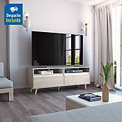 Rack para TV Benett 53.5x141x45.3cm Rovere