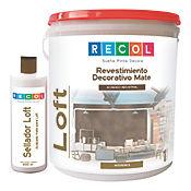 Kit Loft Revestimiento Decorativo + Sellador - Color Azul Rey
