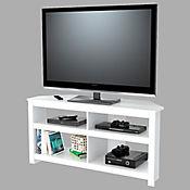 Mesa para TV de 50 Pulgadas Esquinera 61,5x126x41cm Blanco