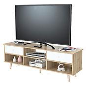 Mesa para TV de 55 Pulgadas Scandia 60x153x40cm Blanco