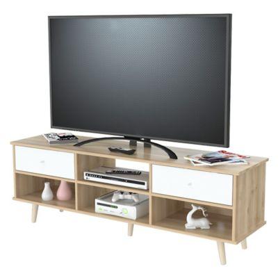 Mesa para tv de 55 pulgadas scandia 60x153x40cm blanco for Mesa para tv 55 pulgadas