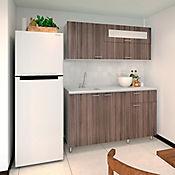 Cocina Integral Toledo 1.50 Metros Incienso Incluye Mesón Liso Izquierdo
