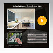 Película Control Solar Grafito 2x1,52m HGCSGRF50-2m