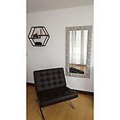 Espejo Decorativo Con Biselado Y Cuero Decoespejo201