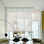 Enrollable Solar Screen 5 Beige A La Medida Ancho Entre 320.5-340  cm Alto Entre  30-100 cm