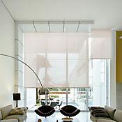 Enrollable Solar Screen 5 Beige A La Medida Ancho Entre 120.5-130 cm Alto Entre 100.5-135 cm