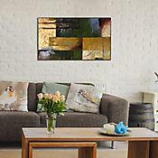 Cuadro Retablo Abstracto  60x100 cm Amarillo