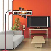 Lámpara De Piso Rojo E27 11w Max