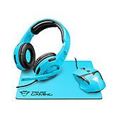 Combo 3 En 1 Gamer Gxt790-Sb Spectra Audifono+Mouse+Pad Mouse Neon Azul 22467
