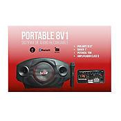 Cabina de Sonido Recargable Micrófono 35W PORTABLE8 V1
