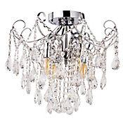 Lámpara Colgante Alaran 4 Luces E14 Cromo