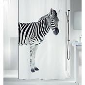 Cortina Baño Poliéster 180x200 cm Zebra