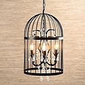 Lámpara Colgante Jaula Deco 4 Luces E14