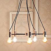Lámpara Colgante Almere 5 Luces E27 Cobre