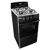 Cocina de Horno a Gas Natural con Frente Negro y Torre Negro Titanium Horno