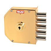 Cerradura 6000 de Seguridad Derecha Color Esmaltado Oro