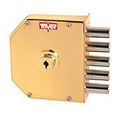 Cerradura 6001 de Seguridad Izquierda Color Esmaltado Oro