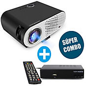 Combo Video Beam GP70 + Tv Box Express Smart Tv