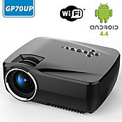 Proyector Inteligente Android WIFI 1200 Lum GP70UP Negro