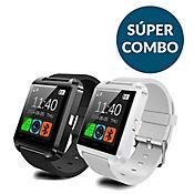 Combo Pareja Smartwatch U8 2x1 - Blanco y Negro