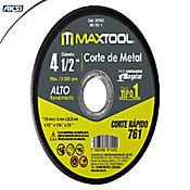 Set x 2 Piezas Disco Corte De Metal 4 1/2 Pulgadas X 1.6mm, Tipo 1