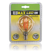 Led Miniglobo Filamento Golden 4W Lc E14 25.000 Hrs