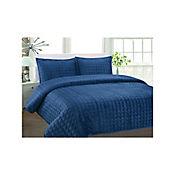 Cubrelecho Soft Azul Petro 230x240 cm