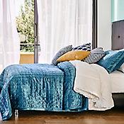 Cubrelecho Soft Azul Petro 280x240 cm