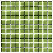 Mosaico Cristal Verde Oscuro 30x30 centímetros